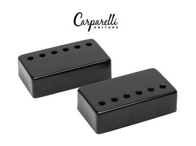 Carparelli Metal Humbucker Cover 50/52mm Pair Set Black