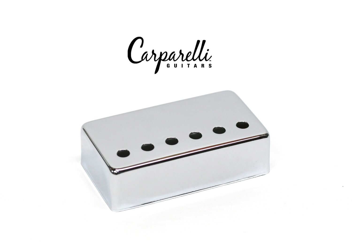 1 x Carparelli Metal Humbucker Cover 52mm Chrome