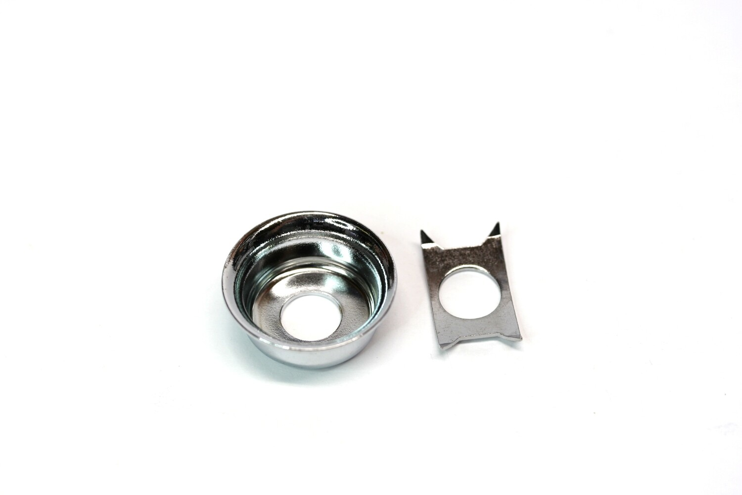 Vintage Style Input Cup Jackplate for Telecaster® Chrome with Clip