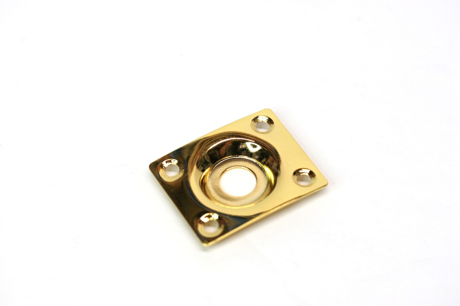 "Rectangular jack plate with slight curve. Hole diameter 3/8""."