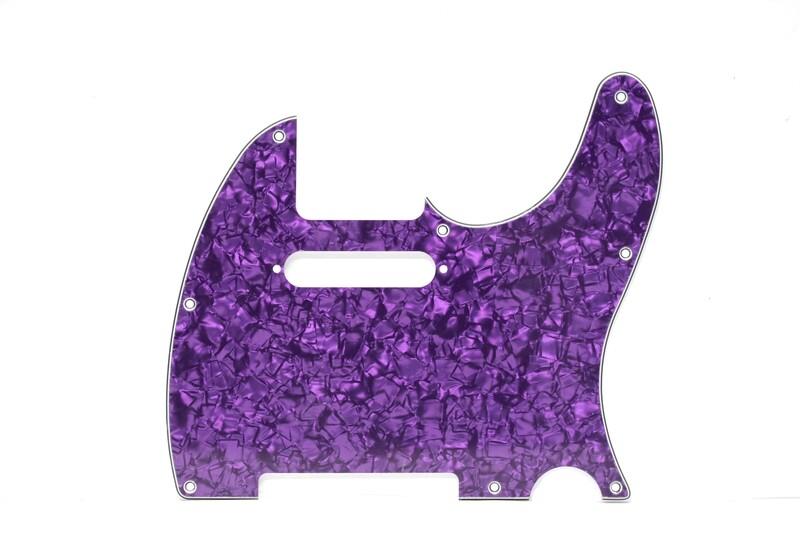 Brio 8 Hole Guitar Tele® Pickguard RH 4 Ply Purple Pearloid