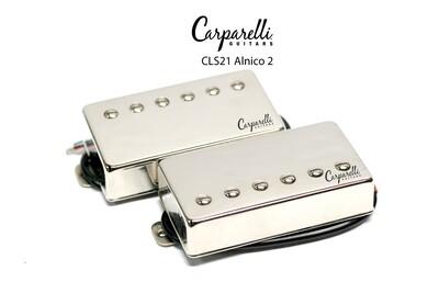 Carparelli CLS21 Alnico 2 Vintage Nickel Humbucker Set Neck/Bridge
