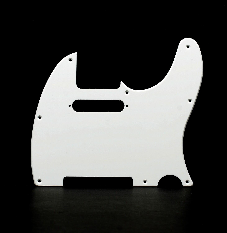 Brio 8 Hole Guitar Tele® Pickguard RH  1 Ply White