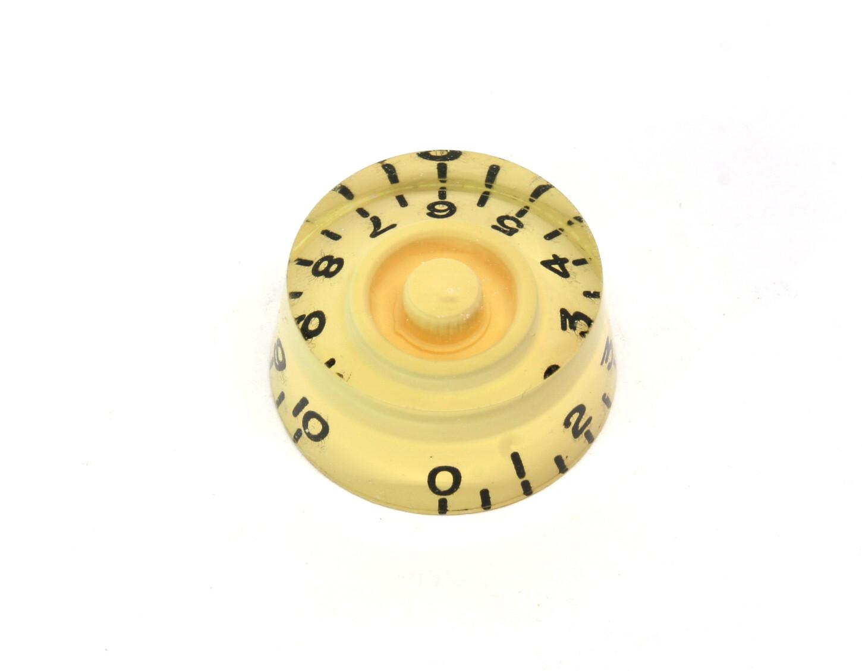 1 x Cream Speed knob vintage style numbers, fits USA split shaft pots.