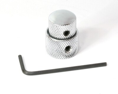 Chrome Concentric stacked knob set, with set screws, fits metric 6mm