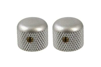 Aged Short dome knobs (2), Gotoh, with set screw, fits USA split shaft pots, 5/8