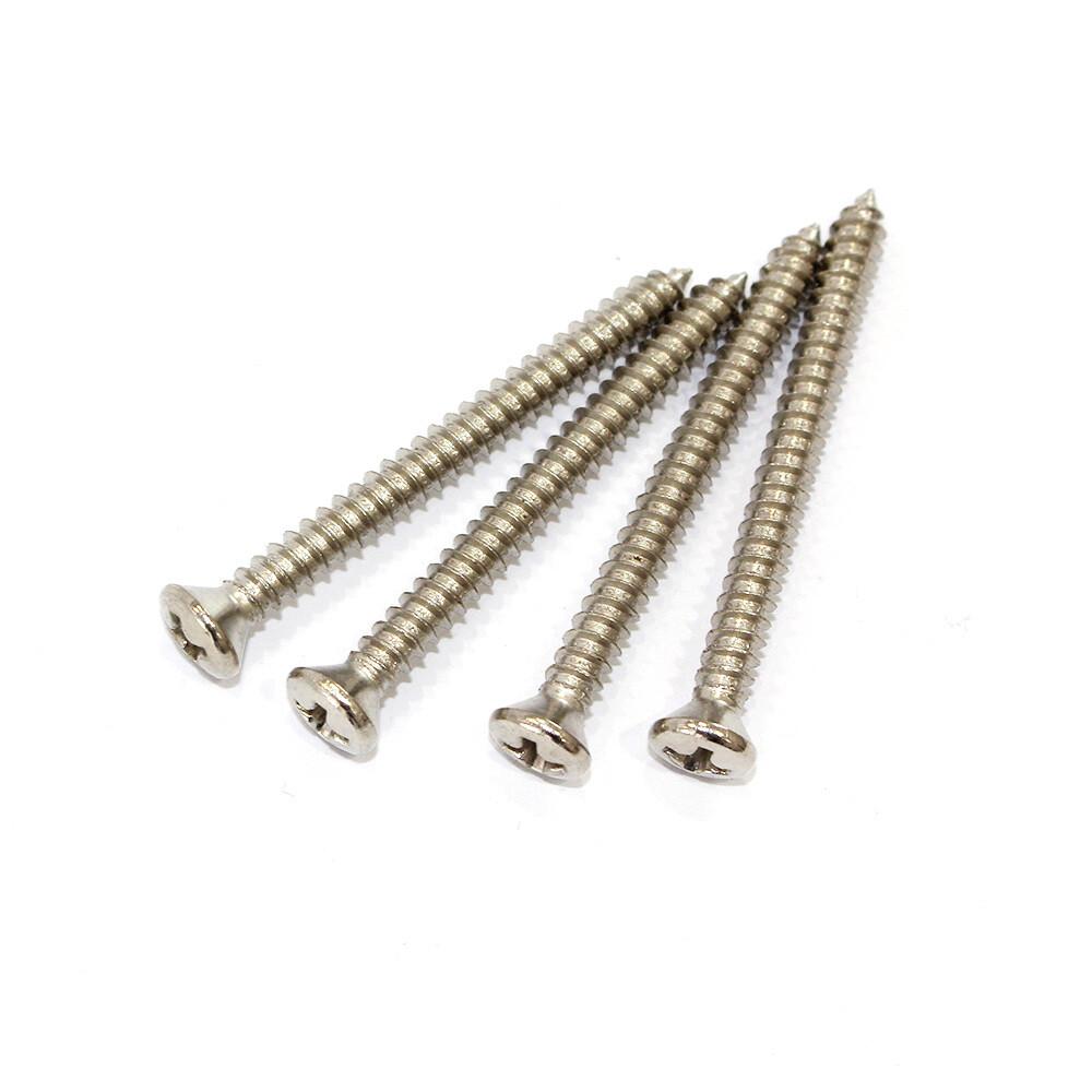 Allparts Pack of 4 US Steel Nickel Neck Plate Screws