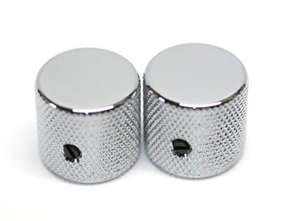 Gotoh Metal Barrel Knobs USA Solid Shaft Chrome