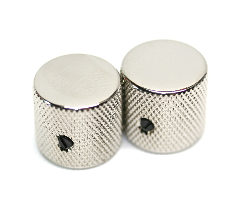 Gotoh Metal Barrel Knobs USA Solid Shaft Nickel