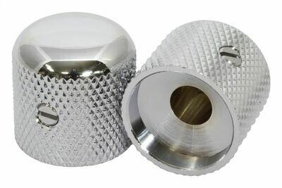 Brio Metal Dome Knobs x 2 ( fits USA solid shaft ) Nickel