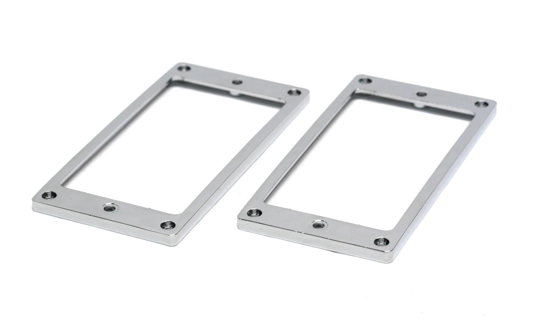 2 x Metal Humbucking Pickup Ring Set Chrome