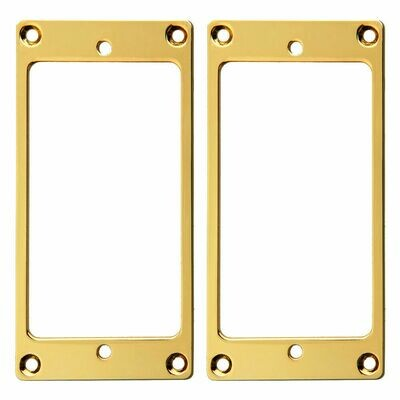 2 x Metal Humbucking Pickup Rings Set Gold