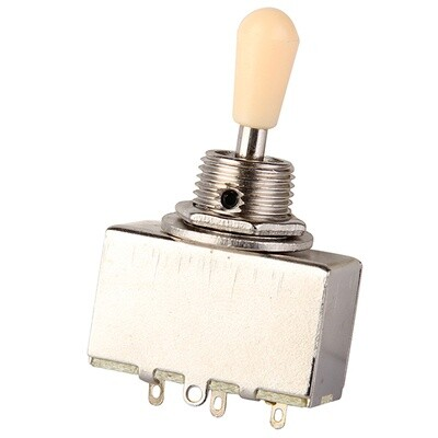Brio 3 Way Sealed Box Toggle Switch Cream or Black Tip Metric Size