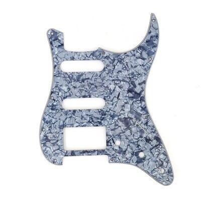 Brio 11 Hole HSS Strat® Pickguard for Fender US/Mex Made Standard Stratocaster Modern Style Pearoid Grey