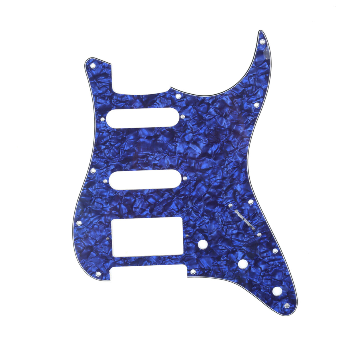 Brio 11 Hole HSS Strat® Pickguard for Fender US/Mex Made Standard Stratocaster Modern Style Pearoid Blue