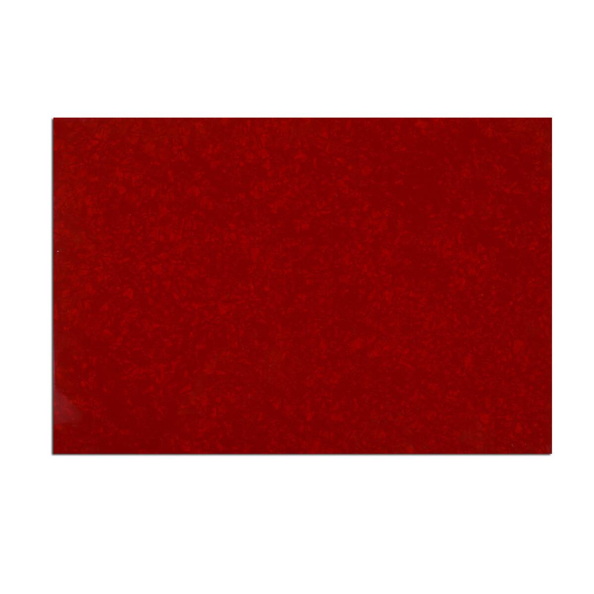 "Brio Pickguard Blanks 12"" x 17"" 4 Ply Pearloid Red"