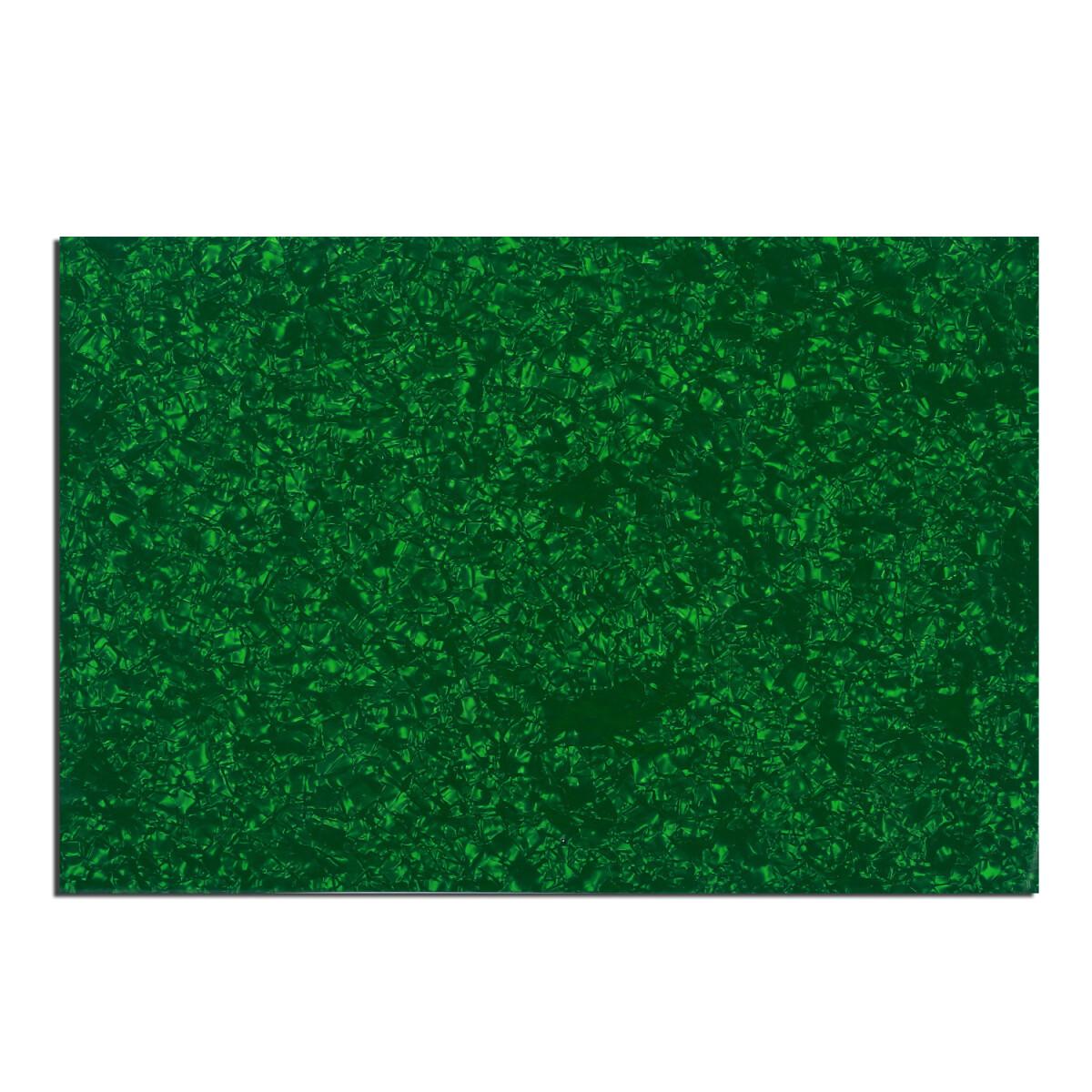 "Brio Pickguard Blanks 12"" x 17"" 4 Ply Pearloid Green"
