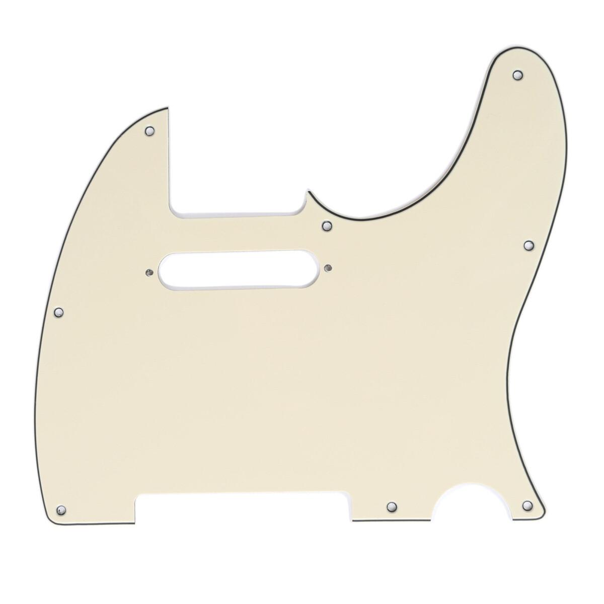 Brio Pickguard for Tele®, (8 screw holes) Cream