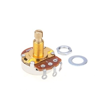 Brio Brass Shaft Full Metric Sized Control Pots A500K Audio Taper Potentiometers for Guitar
