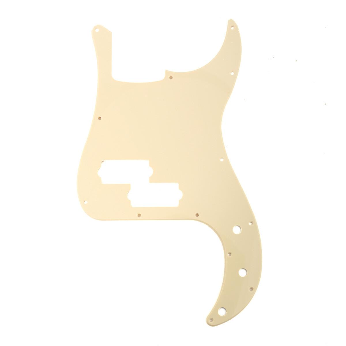 Brio 13 Hole 4 String Precision Bass, No Notch, Cream 1 Ply