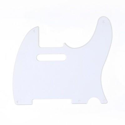 Brio 5 Hole Vintage Tele® Pickguard USA/Mexican Gloss White 1 Ply