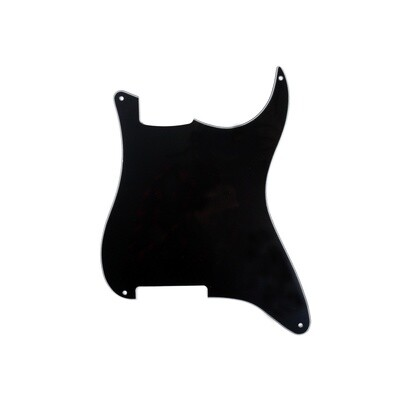 Brio Blank 4 hole outline pickguard for Strat®, 3 Ply Black (black/white/black)