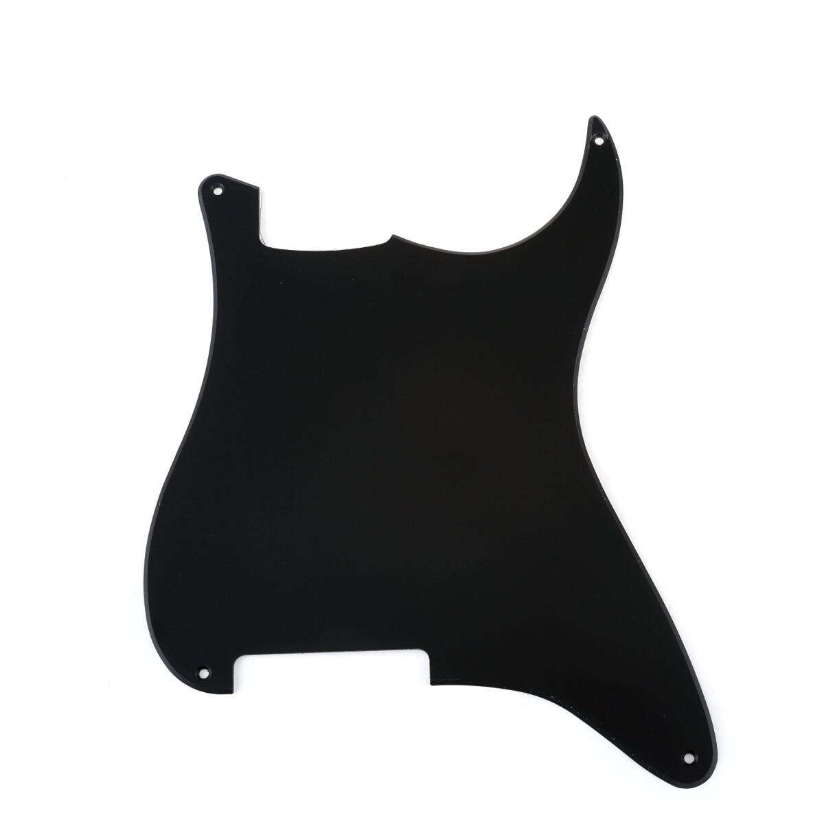 Brio Blank 4 hole outline pickguard for Strat®, 1 Ply Matte Black