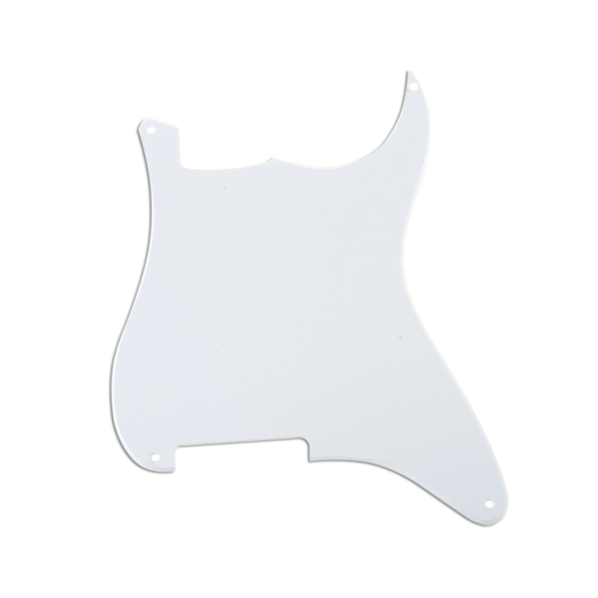 Brio Blank 4 hole outline pickguard for Strat®, 1 Ply White