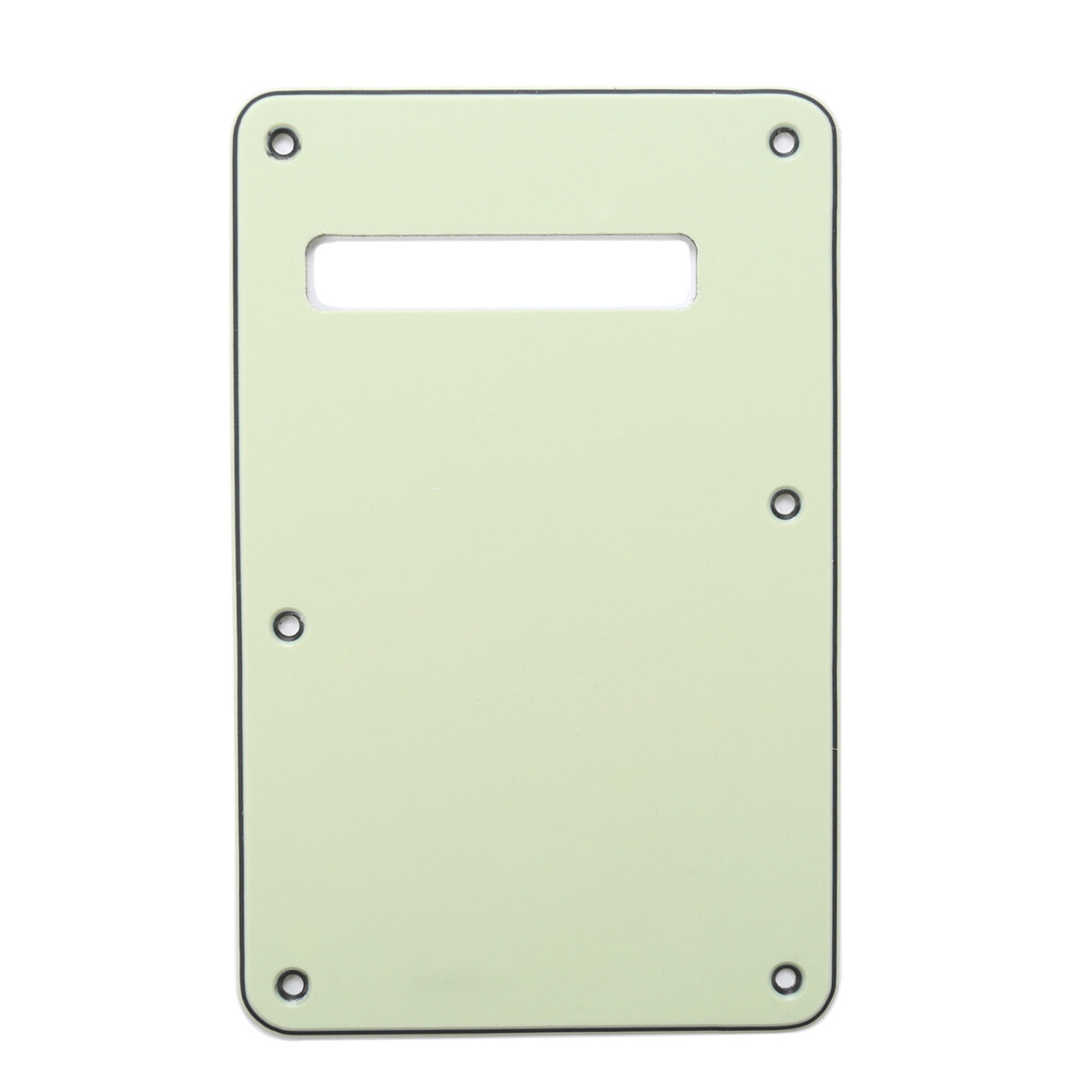 Brio Mint Green Modern Style Back Plate Tremolo Cover 3 ply - US/Mexican Fender®Strat® Fit