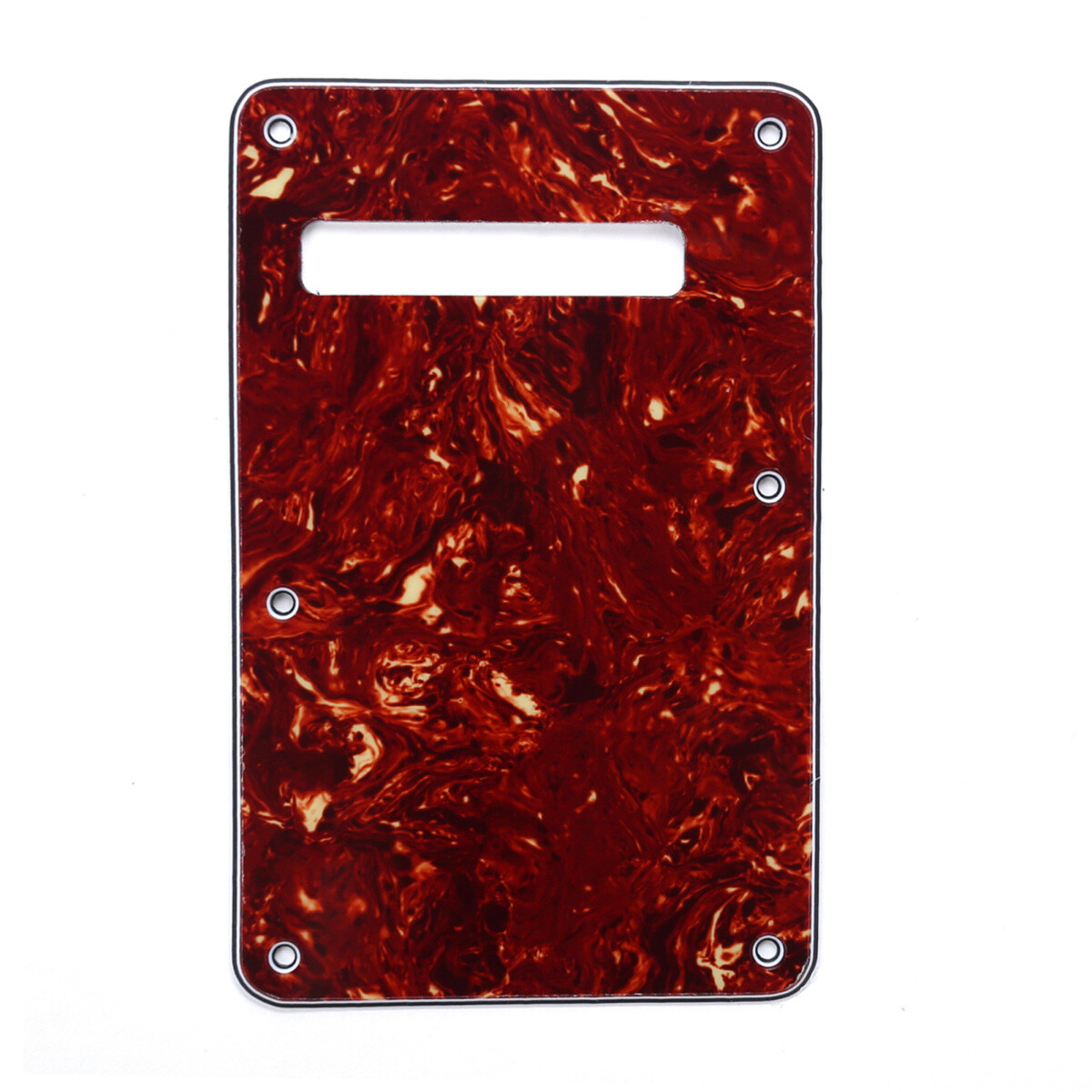 Brio Vintage Tortoise Modern Style Back Plate Tremolo Cover 3 ply - US/Mexican Fender®Strat® Fit