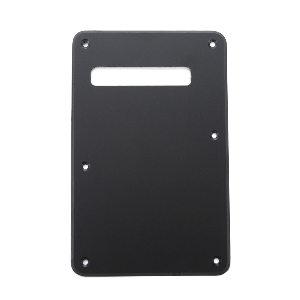 Brio Matte Black Modern Style Back Plate Tremolo Cover 1 ply - US/Mexican Fender®Strat® Fit