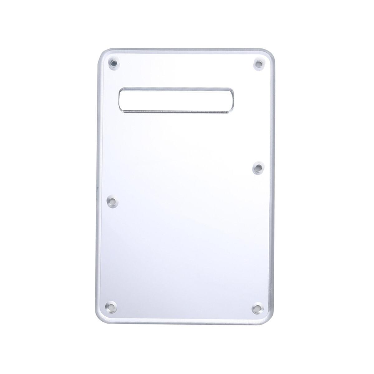 Brio Modern Back Plate Tremolo Cover Silver Mirror Acrylic fits American/Mexican Fender®Strat® Fit