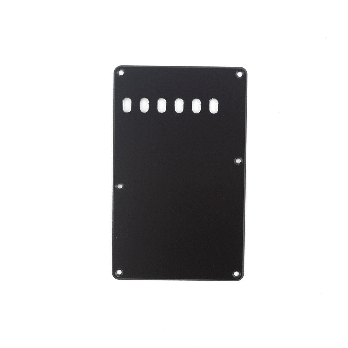 Brio Matte Black Vintage Style Back Plate Tremolo Cover 1 ply - US/Mexican Fender®Strat® Fit