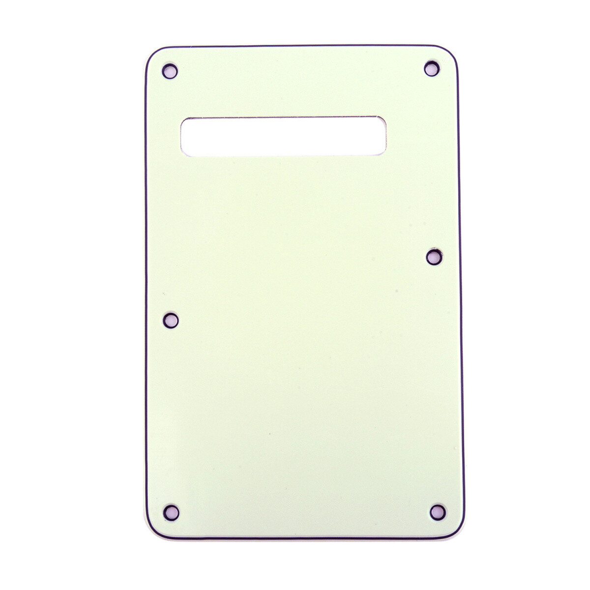 Ivory Modern Style Back Plate Tremolo Cover 3 ply - US/Mexican Fender®Strat® Fit