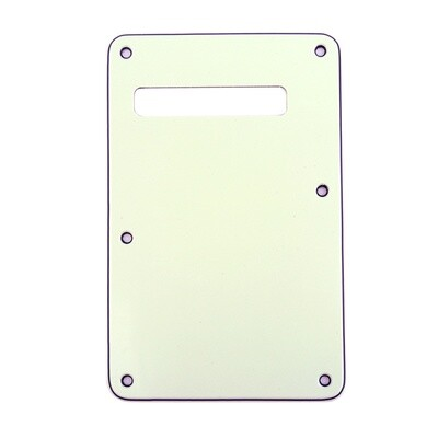 Brio Ivory Modern Style Back Plate Tremolo Cover 3 ply - US/Mexican Fender®Strat® Fit