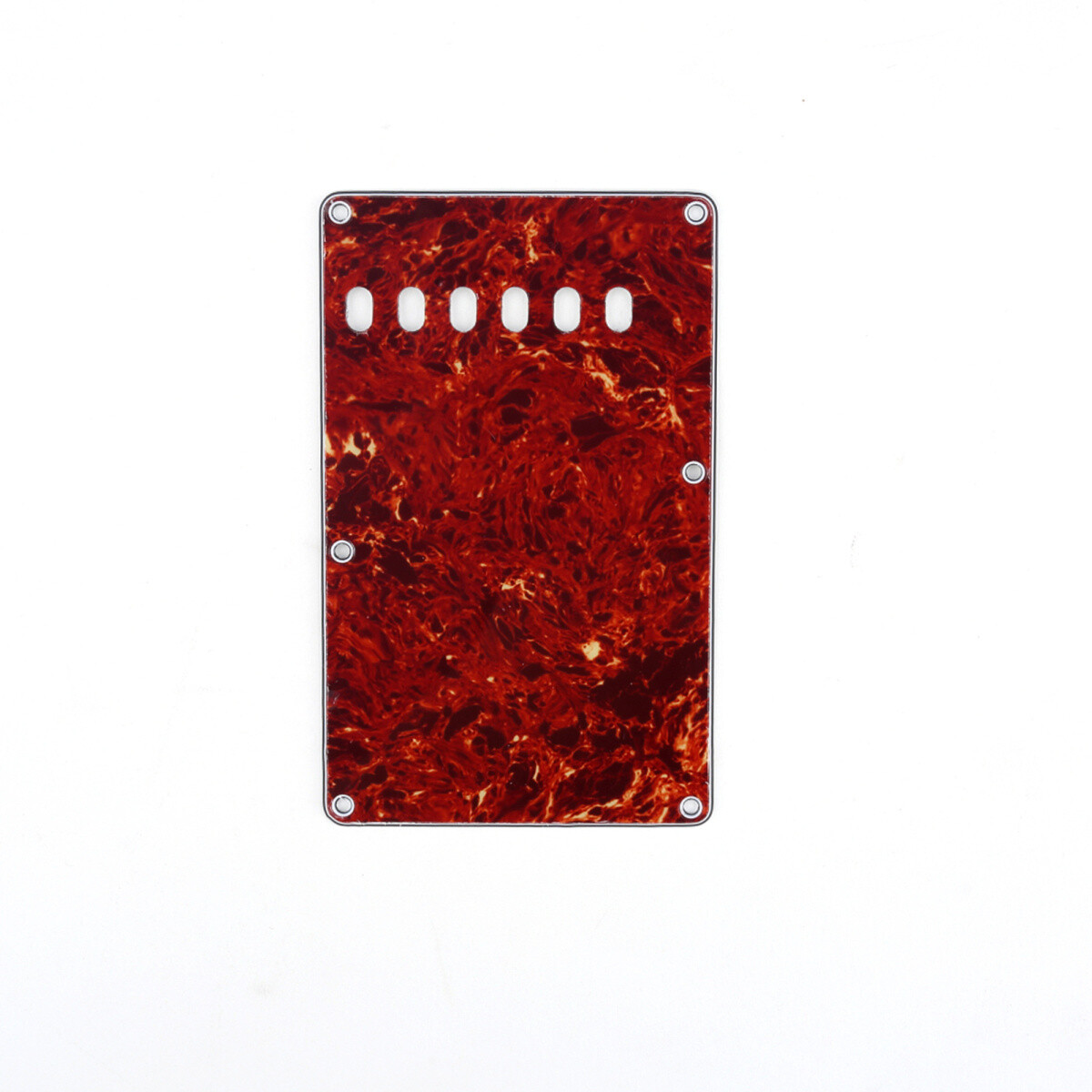 Red Tortoise Vintage Style Back Plate Tremolo Cover 3 ply - US/Mexican Fender®Strat® Fit