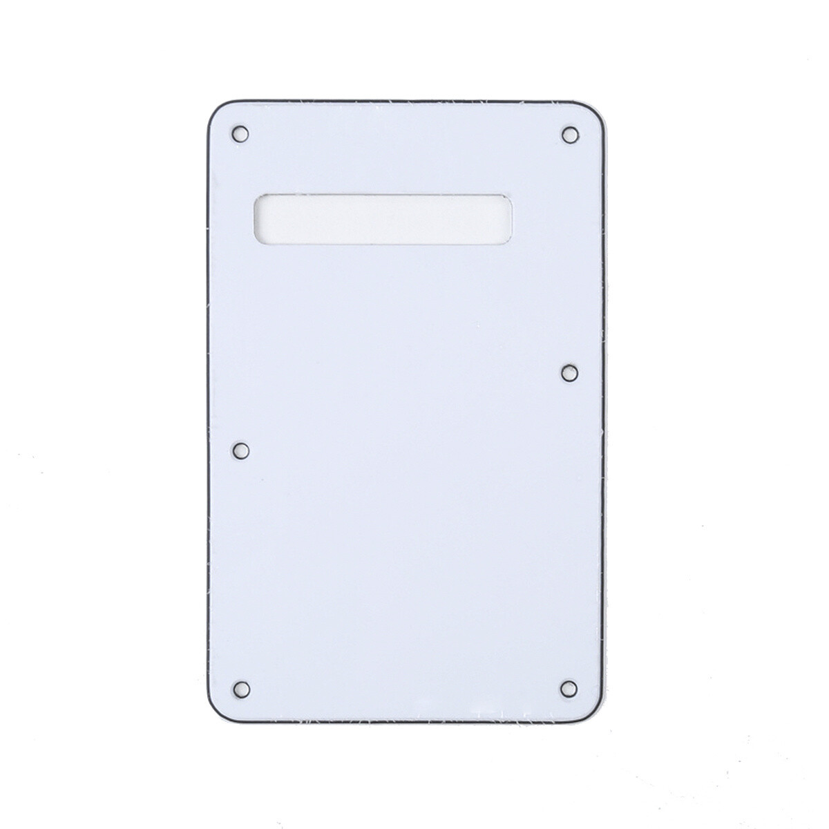 Brio White Modern Style Back Plate Tremolo Cover 3 ply - US/Mexican Fender®Strat® Fit