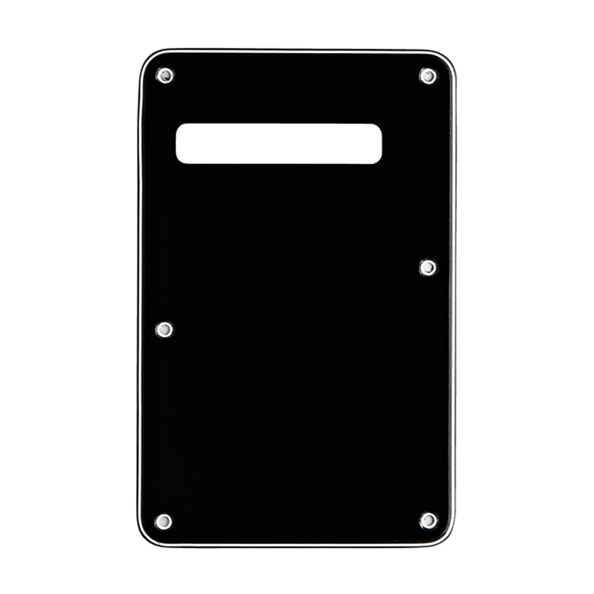 Brio Black Modern Style Back Plate Tremolo Cover 3 ply - US/Mexican Fender®Strat® Fit