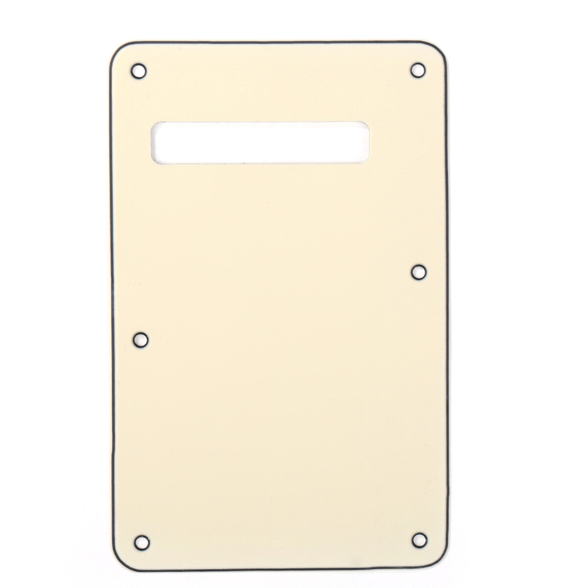 Brio Cream Modern Style Back Plate Tremolo Cover 3 ply - US/Mexican Fender®Strat® Fit