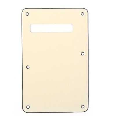 Cream Modern Style Back Plate Tremolo Cover 3 ply - US/Mexican Fender®Strat® Fit