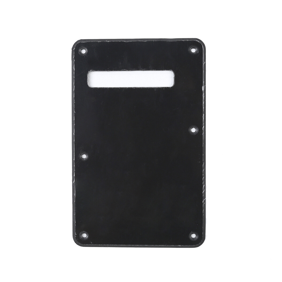 Brio Black Modern Style Back Plate Tremolo Cover 1 ply - US/Mexican Fender®Strat® Fit