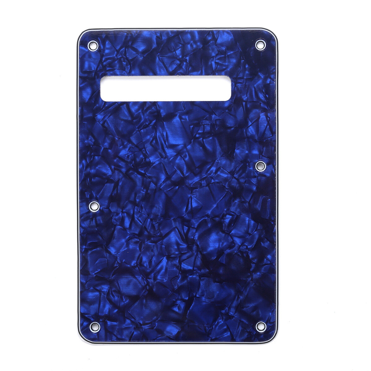 Brio Pearl Blue Modern Style Back Plate Tremolo Cover 4 ply - US/Mexican Fender®Strat® Fit