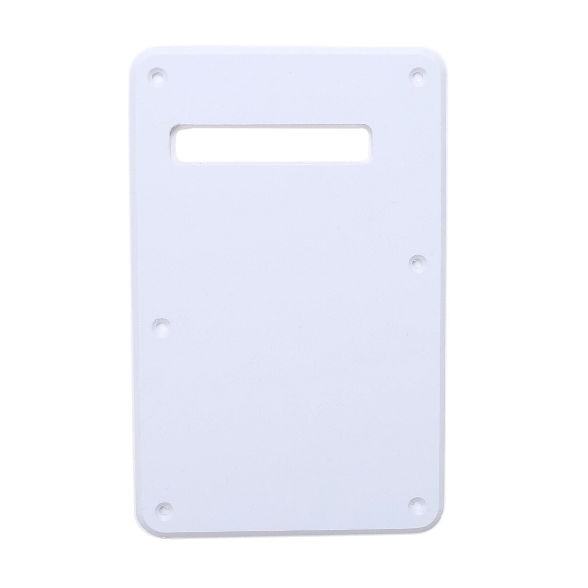 White Modern Style Back Plate Tremolo Cover 1 ply - US/Mexican Fender®Strat® Fit