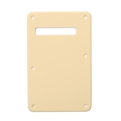 Cream Modern Style Back Plate Tremolo Cover 1 ply - US/Mexican Fender®Strat® Fit