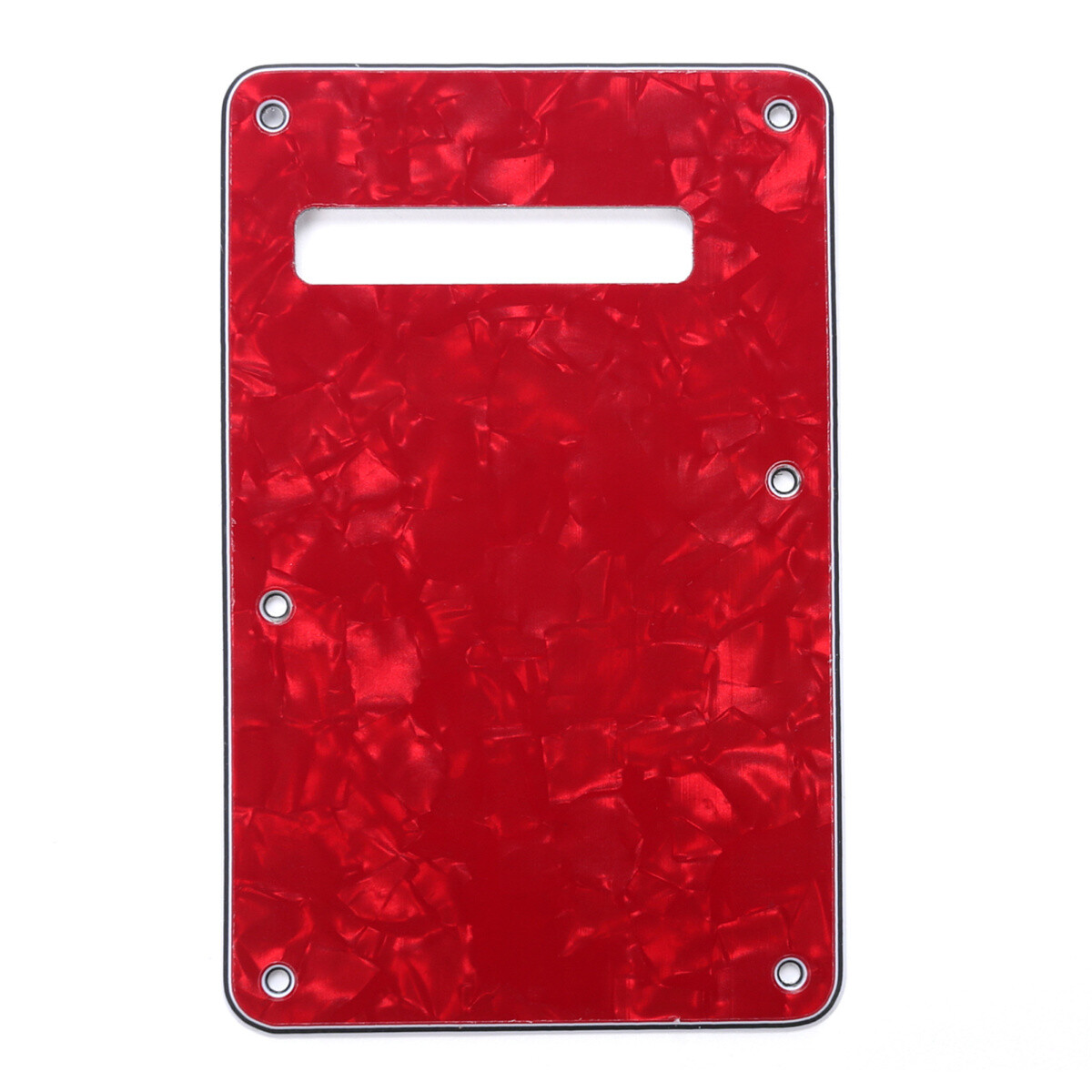 Brio Pearl Red Modern Style Back Plate Tremolo Cover 4 ply - US/Mexican Fender®Strat® Fit