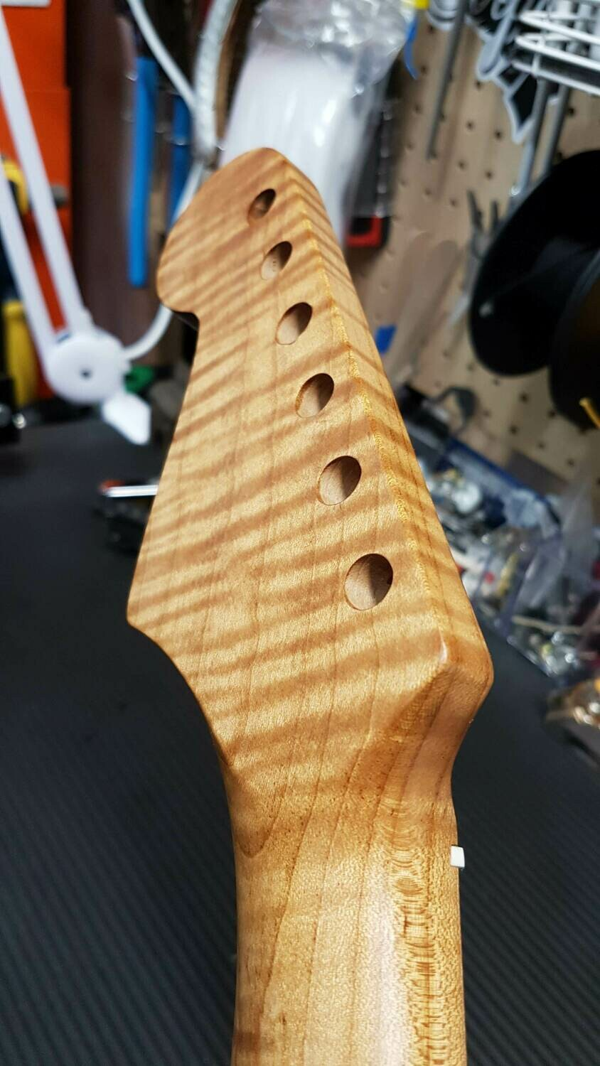 Brio Strat Style Highly Flamed Roasted Maple Neck Satin Hand Rubbed Finish