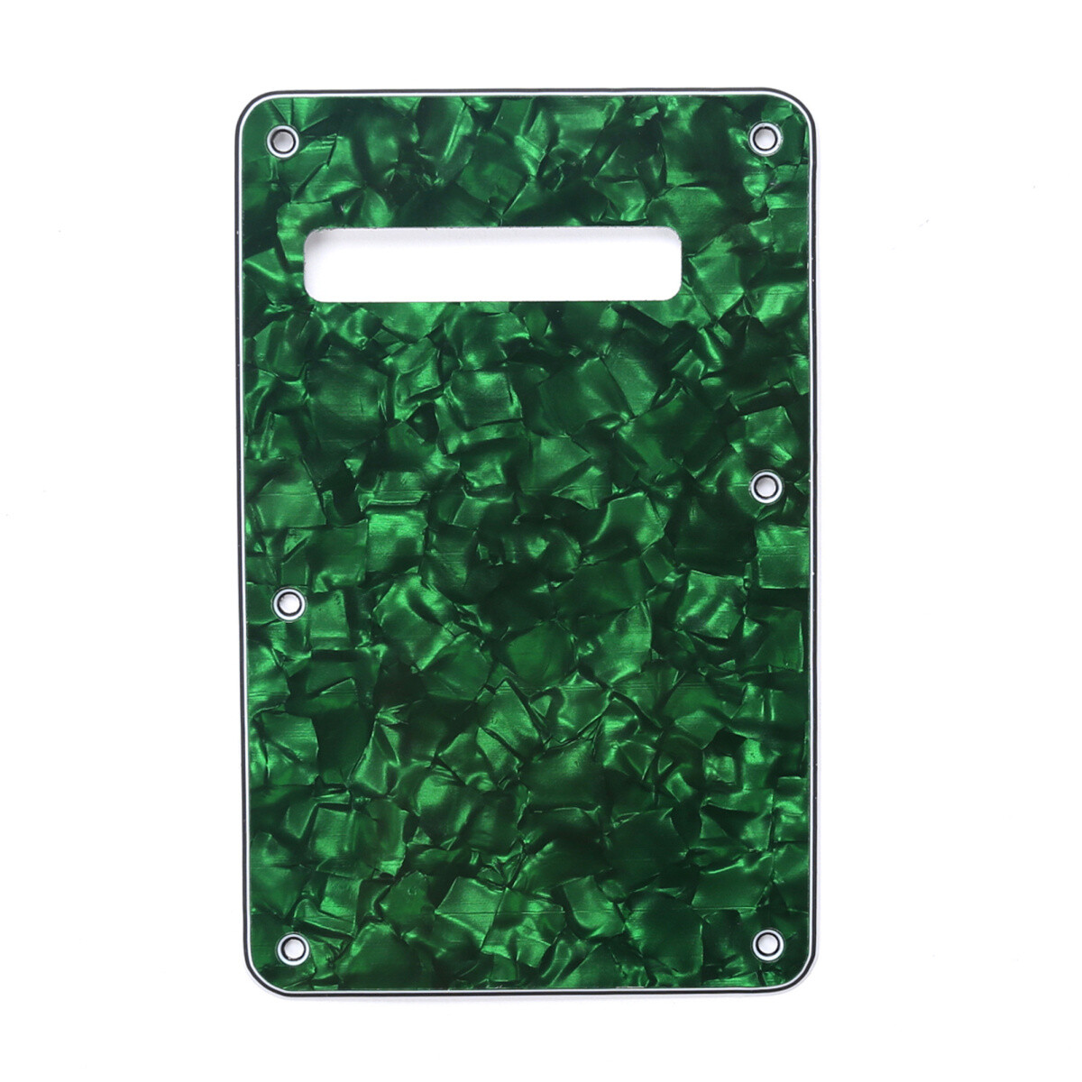 Brio Pearl Green Modern Style Back Plate Tremolo Cover 4 ply - US/Mexican Fender®Strat® Fit