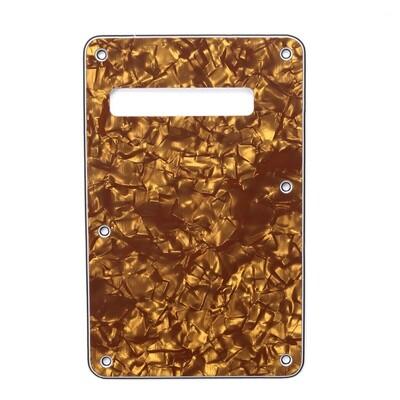 Brio Pearl Bronze Modern Style Back Plate Tremolo Cover 4 ply - US/Mexican Fender®Strat® Fit