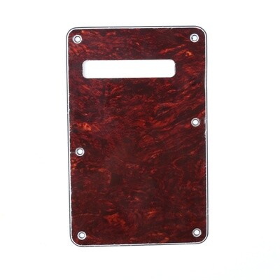 Brio Red Tortoise Modern Style Back Plate Tremolo Cover 4 ply - US/Mexican Fender®Strat® Fit