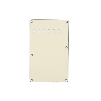 Brio Cream Vintage Style Back Plate Tremolo Cover 1 ply - US/Mexican Fender®Strat® Fit